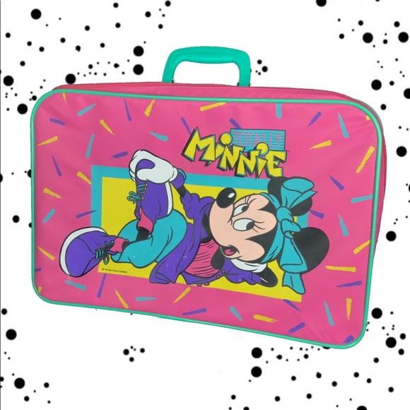 Disney Accessories   Vtg 80s 90s Minnie Mouse Suit Case   Poshmark de75a247dc